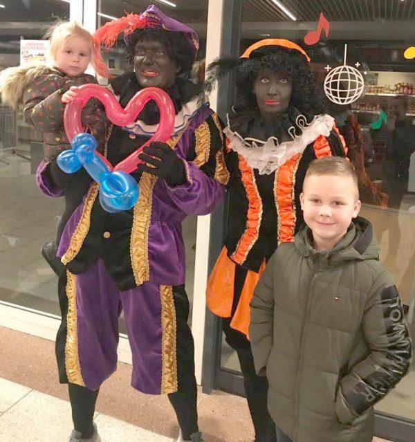 Clown Marco als Zwarte Piet