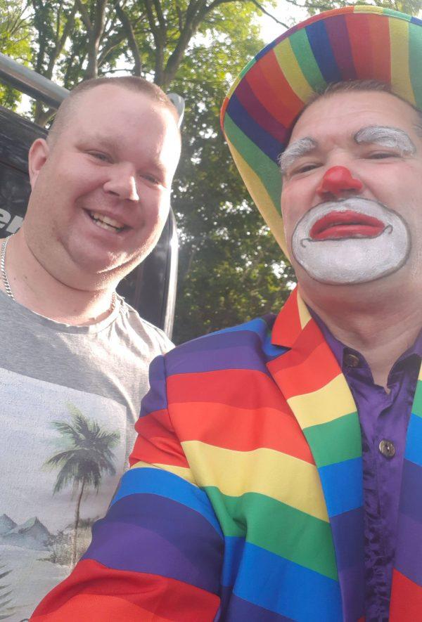 Clown Marco met fan
